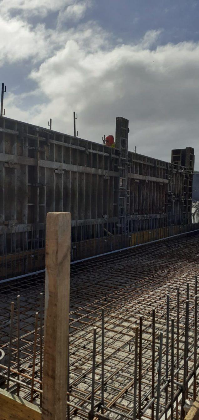 Construcción nave acuipalma en la palma